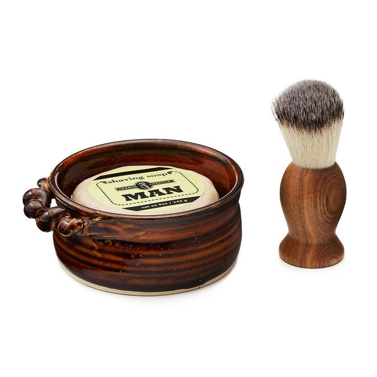 HERBAN MEN'S SHAVING SET | Shaving Soap & Shaving Mug | UncommonGoods