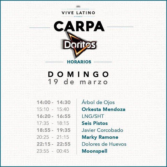 Horarios Vive Latino 2017 | Pólvora, La Explosión del Rock