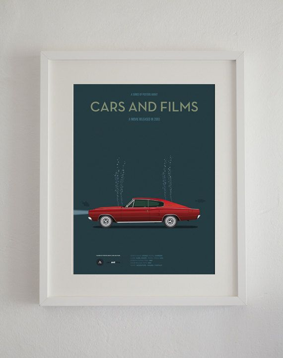 Big Fish car movie poster art print A3 Cars And Films home
