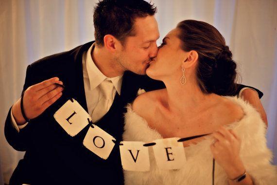 LOVE Wedding Banner... Wedding or Engagement by CreativePapier, $15.00