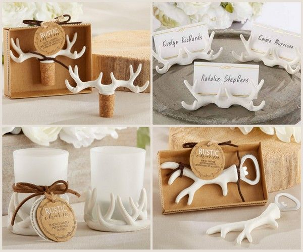 Antler Design Wedding Favors from HotRef.com