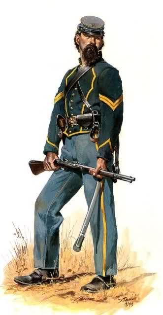 1862 - Corporal - 2nd Missouri Volunteer Cavalry - Don Troiani.