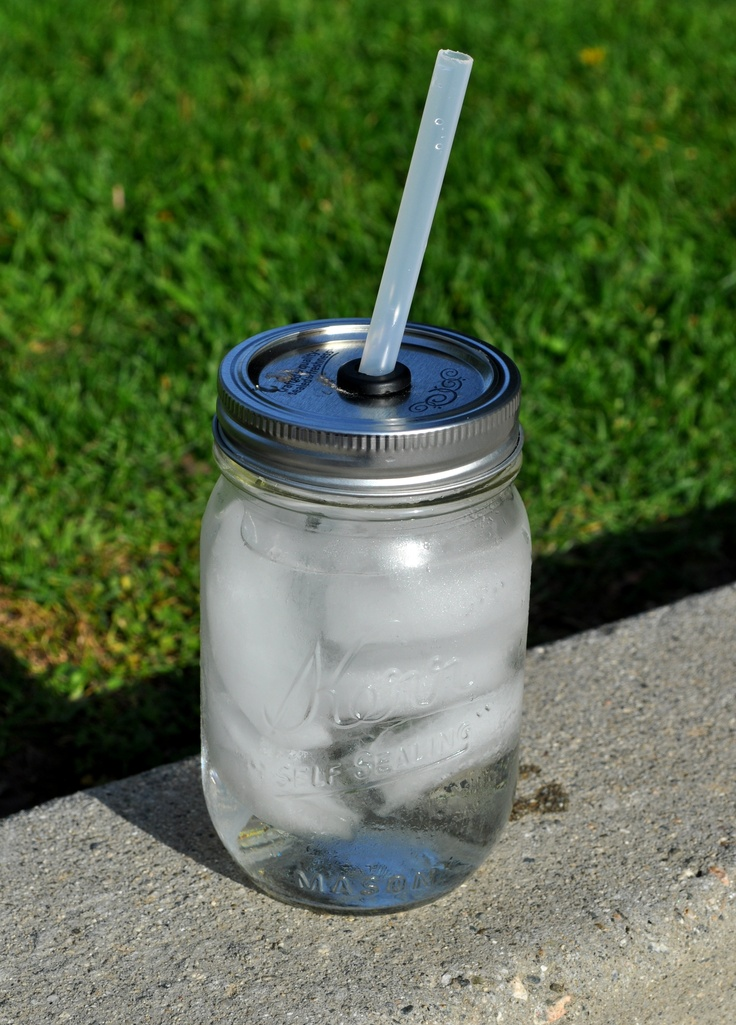 My DIY mason jar travel cups. Super easy! All you need is:  1.Small or large size mason jar-(Michaels Crafts)   2. Rubber grometts size 3/8 inch (Home Depot)   3.Thick plastic straws (Michaels Crafts)    Using a drill, drill out a hole 1/2 inch thick in the center of the mason jar lid. Insert the rubber grommett, place in your straw, and you are set!  This is for LeeAnn!!!!!!!!!!