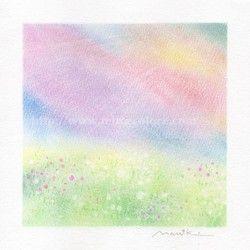 パステル原画*わたしの中の虹色の空