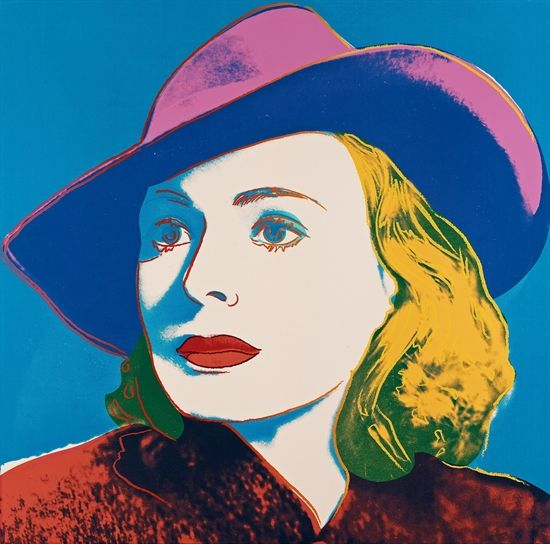 With Hat (from Ingrid Bergman) by Andy Warhol