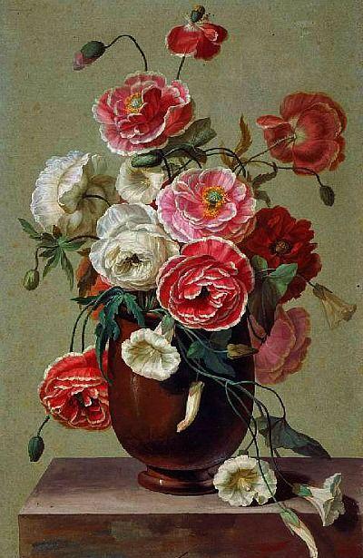 Antoine Berjon - Flowers in a Vase, 19th century