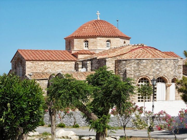 Panaghia Ekatontapyliani beautiful church in Paros Greece dedicated to Virgin Mary. Courtesy of my friend Aline Dobbie