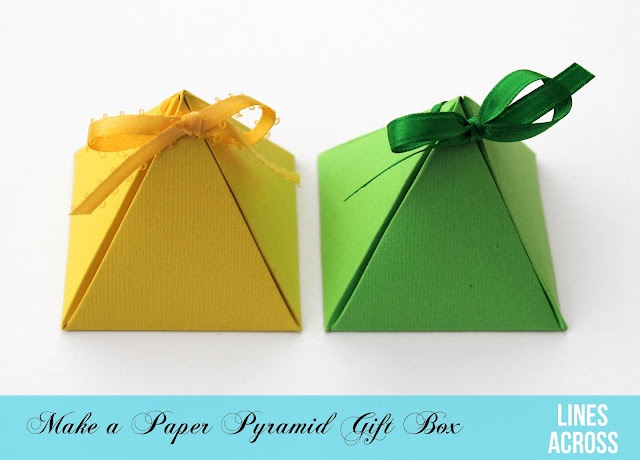 Paper Pyramid Gift Boxes: Diy Ideas, Gift Boxes, Pyramid Boxes, Paper Pyramid, Diy Gifts, Gifts Boxes Templates, Gifts Wraps, Paper Boxes, Pyramid Gifts