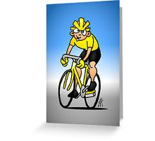 Cyclist Greeting Card #Redbubble #Cardvibes #Tekenaartje #SOLD