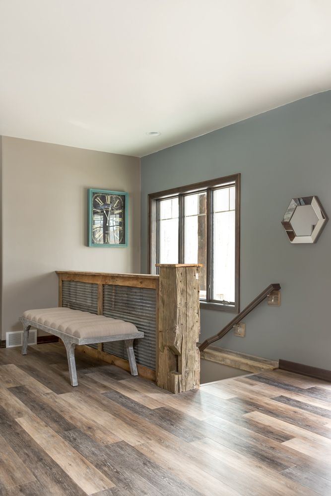 Luxury Vinyl Plank: Armstrong Luxe Plank with Fastak Primitive Forest, Falcon