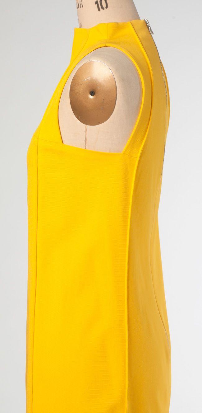 Vogue Patterns V1445 by Pamella Roland. Dress, side view. Love the armscye shape.