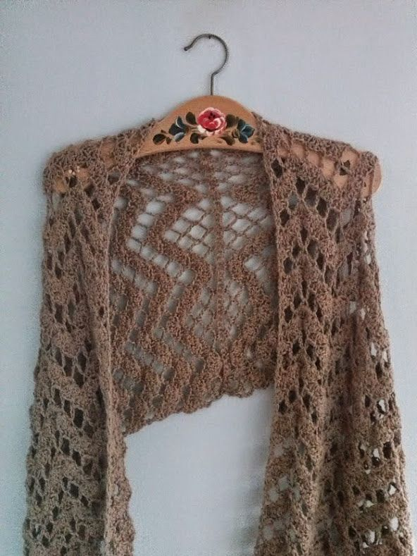 Crochet Patterns For Shawls With Sleeves : 437 best images about Crochet Wrap/Shawl Patterns on ...