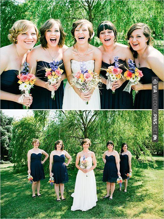 navy blue bridesmaid dresses | CHECK OUT MORE IDEAS AT WEDDINGPINS.NET | #bridesmaids