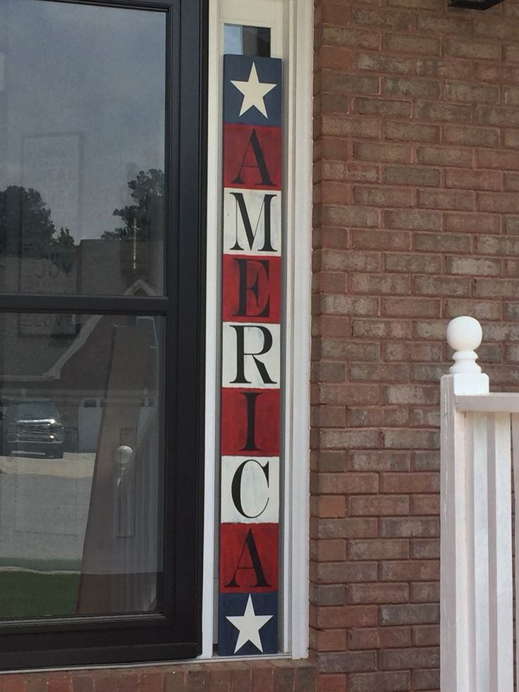 Image 1 Wooden Signs Diy Porch Signs 4th Of July Decorations