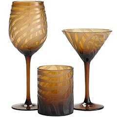 Deep Etched Zebra Glassware  Love these!