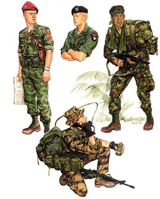 """US Army Rangers & LRRP Units: • Capt., ARVN Ranger advisor (1967) • Sgt., Infantry LRP Co. (Abn.) (1968) • Spec. 4, Co. L (Ranger), 75th Inf (1969) • PFC, Ranger Co., 75th Inf. (1970)"", Ronald Volstad"