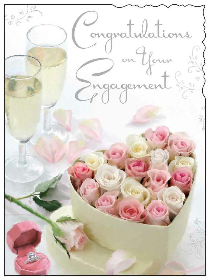 Wedding Congratulations Gift Baskets : Congratulations on your engagement card. http://www.dizzyduckspartyco ...