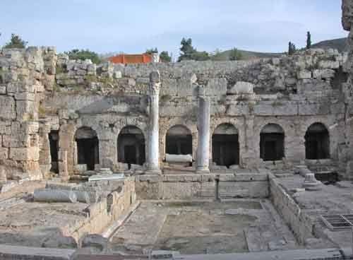 Roman fountain at Corinth, Greece