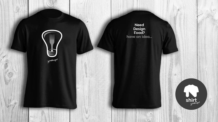 """""""Need Design Food? Have an idea..."""" tshirt by Ndesign Shirts - 2 colour print on black Tee"""
