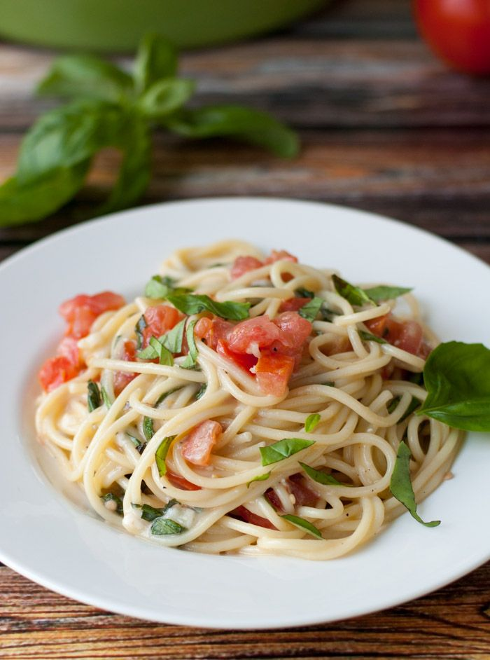 This Brie pasta is one of my all-time favorites. You'l definitely be passing this brie recipe out to your friends. Spaghetti with Brie, Tomato, and Basil.