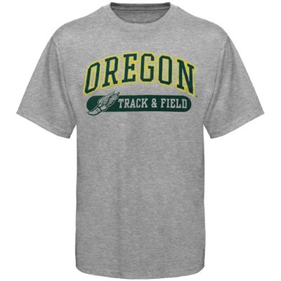 No. 6 (tie) - Oregon Ducks Track & Field Sports And Pride T-Shirt - Ash