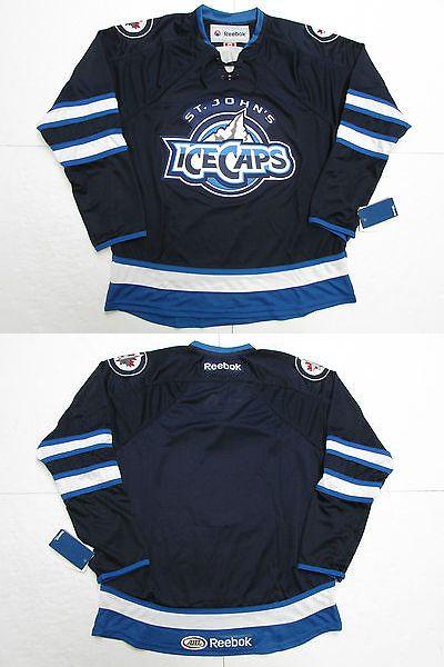 Hockey-Minors 2870: St. John S Ice Caps Blue Ahl Reebok Premier Hockey Jersey -> BUY IT NOW ONLY: $69.99 on eBay!