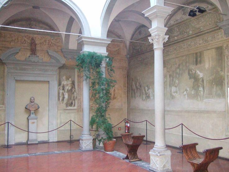 Chiostro dello Scalzo - Firenze - Andrea del Sarto  - 1509-1526 - sei degli otto grandi pannelli  - Franciabigio - 1518-1519 -  due scene