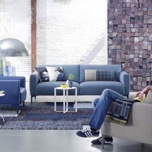 Blauwe banken van Bert Plantagie. Natuurlijk ook in alle andere kleuren. http://www.kantoorinrichters.nl/banken-en-fauteuils