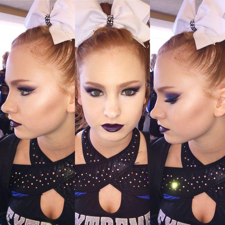 Cheer makeup contour highlight cheer look cheer hair cheer bow