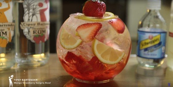 Mango Strawberry Sangria Bowl Will Make You Thirsty For More