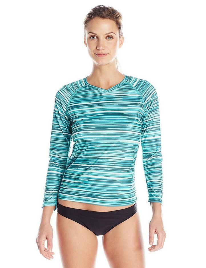 2fe6f72b83142 Kanu Surf Women's UPF 50+ Long Sleeve Active Swim Tee and Workout Top New  Large #KanuSurf #LongSleeve #WorkoutTop