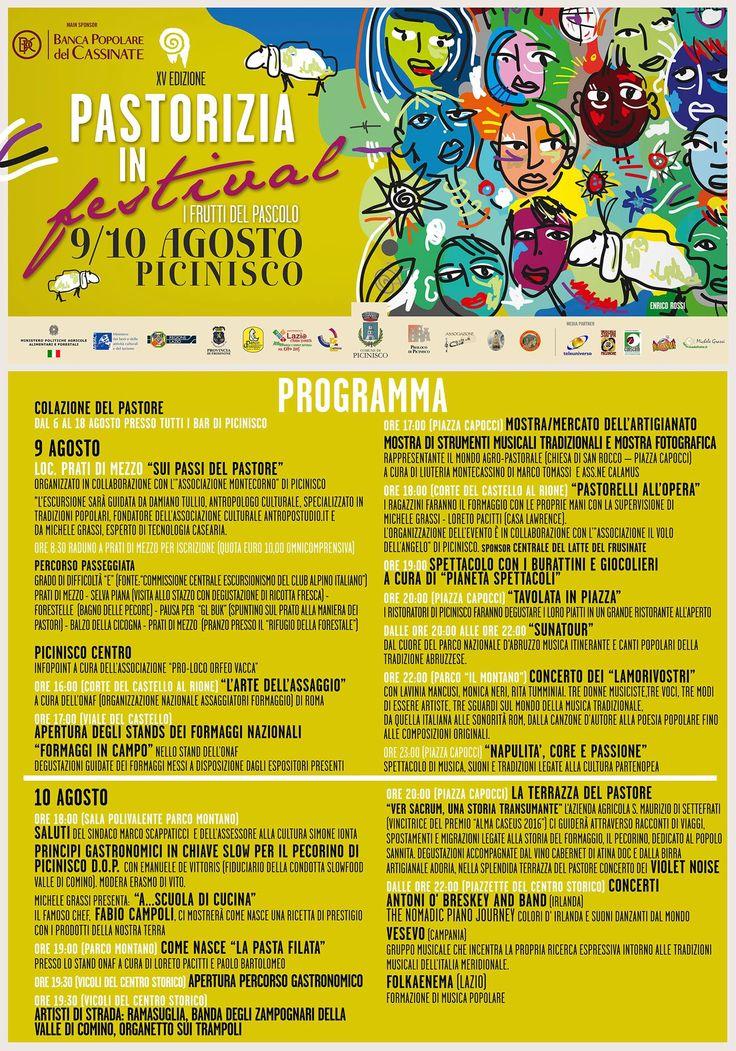 Pastorizia In Festival 9-10 Agosto a Picinisco... il programma completo!!!!!!!!
