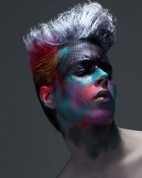 Men's High Fashion.  Try this colorful palette for a Mehron Boy look using Mehron Paradise Makeup AQ