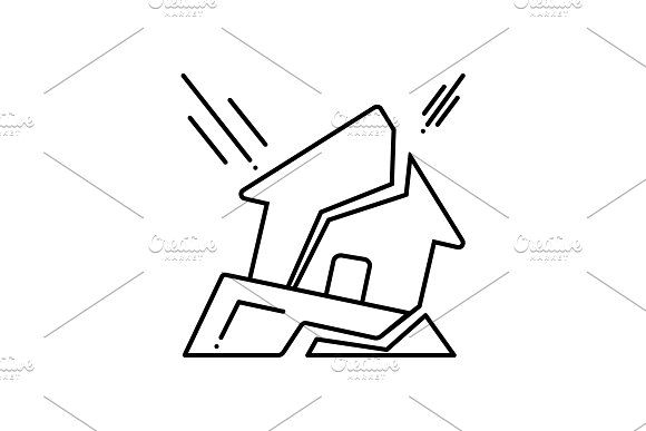Earthquake Icon By Creative Priyanka On Creativemarket