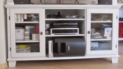 Mobile Ikea porta-televisione ridipinto Sognando........la Svezia