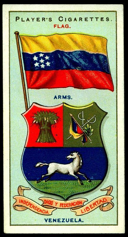 Cigarette Card - Arms & Flag of Venezuela