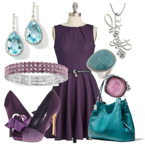 Purple Blue Outfit