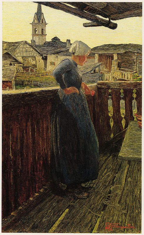 Giovanni Segantini - Sul balcone