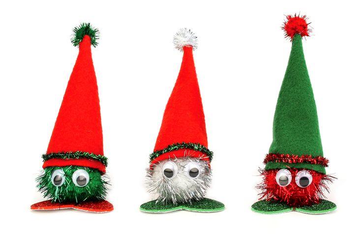 Nicole™ Crafts Sparkle Pom Pom Heads #christmas #kids #craft