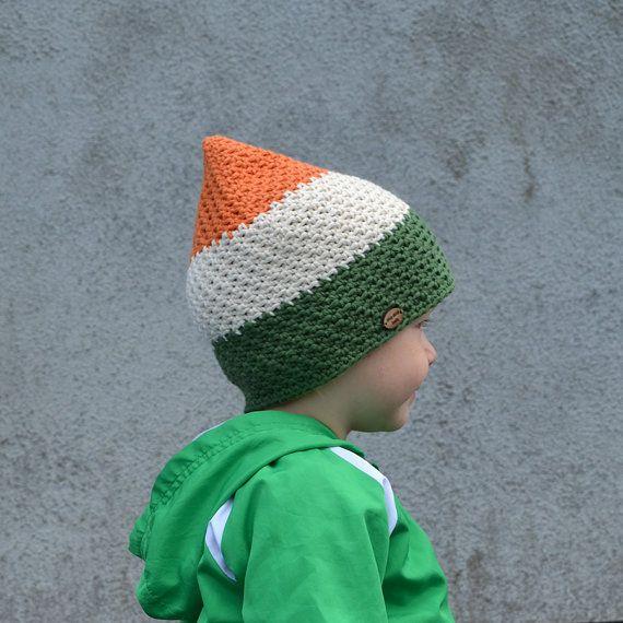 St. Patrick's Day Hat for Baby Boy / Toddler, Irish Flag Hat