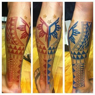 And this tribal Philippine flag. | 21 Stunning Filipino Tattoos That Are Worth The Pain