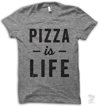 Pizza is life. Digitally printed on an athletic tri-blend t-shirt. You'll love it's classic fit and ultra-soft feel. 50% Polyester / 25% Rayon / 25% Cotton. Each shirt is printed to order and normally