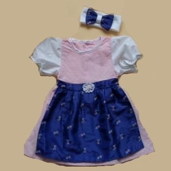 Baby-Dirndl rosa/lila Gr. 74