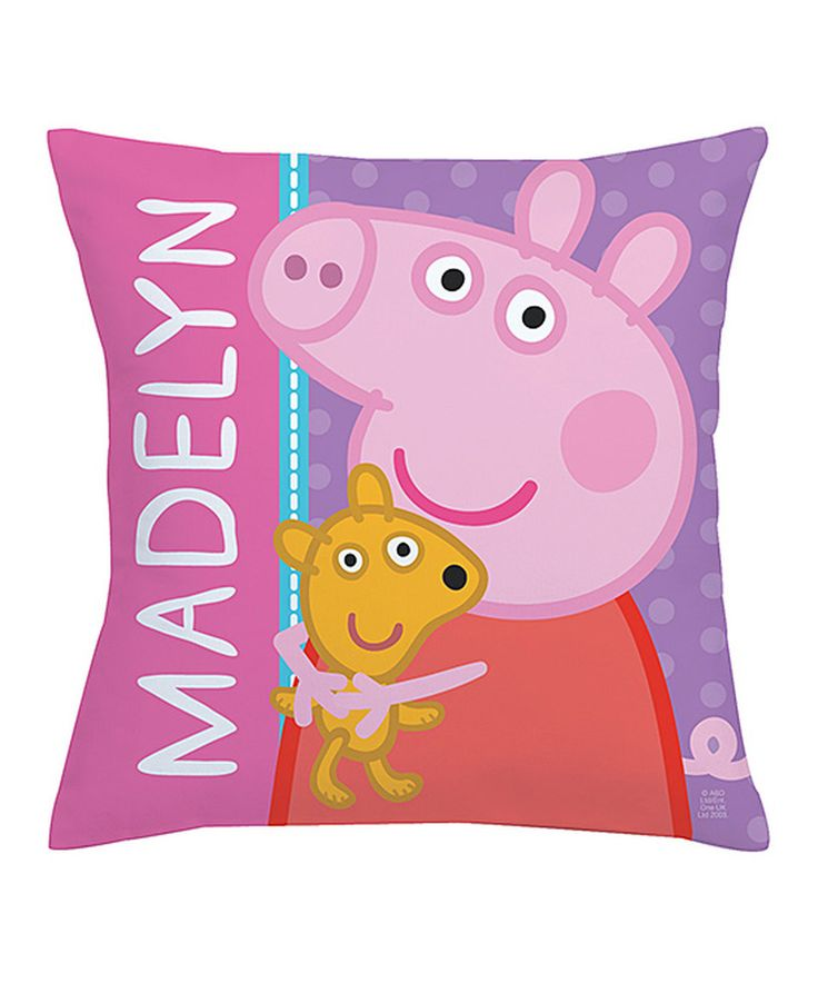 Peppa Pig Big Hug Personalized Throw Pillow #zulilyfinds