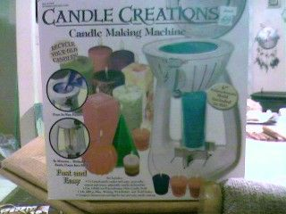 Candle Creations Candle Making Machine in armygirlfriend's Garage Sale in Booneville , AR for $20.00. I was looking to go into candle making and I bought this machine for 40.00 used to two days, and then didn't want to make candles anymore. Its in very good condition, and I still have the box it came in. If you would like a picture, please email me, pictures are available!