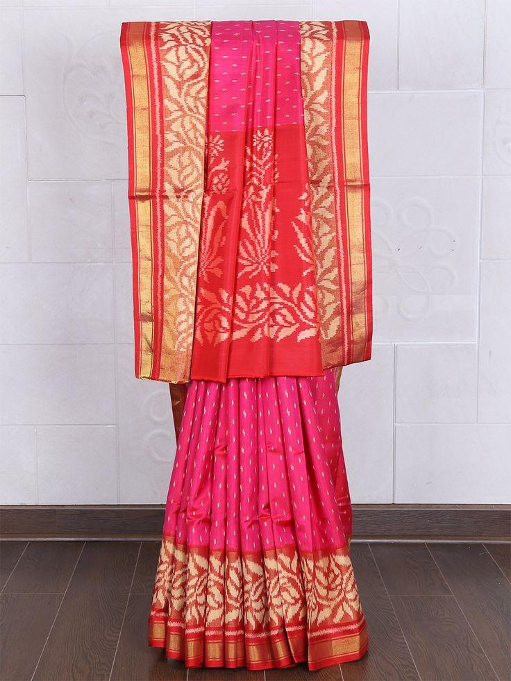 Patola Silk Magenta Printed Saree