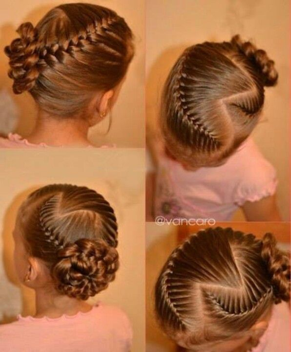 Cute little girl's hair style! One day Maddie will have enough hair to do…