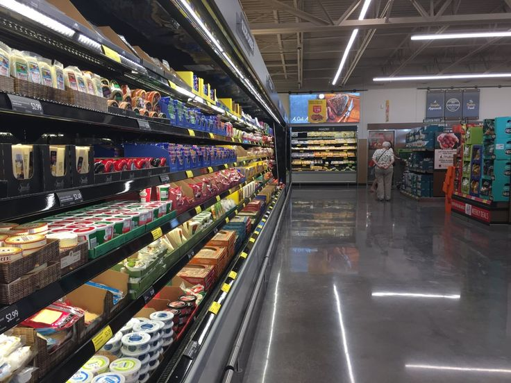 Like at a 365 by Whole Foods, there isn't a deli at the Aldi store, but there are tons of packaged cheeses and meats to choose from.