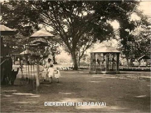 Areal kawasan Kebun Binatang Surabaya 1930 - 1937