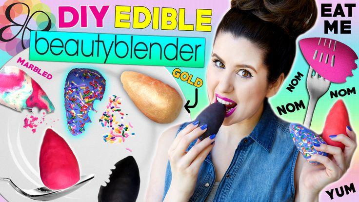 DIY Edible Beauty Blender | Eat Beauty Blenders For Lunch! https://youtu.be/H_VltPqCj4M